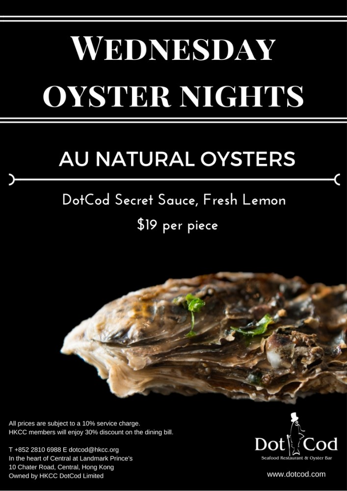 Wednesday oyster nights